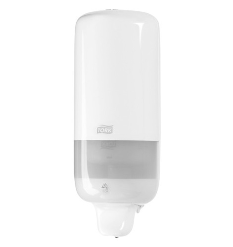 Tork S1 Liquid/Spray Soap Dispenser - White Plastic