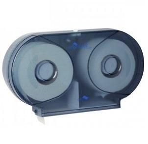 Midi-Twin-Toilet-Roll-Dispenser---White