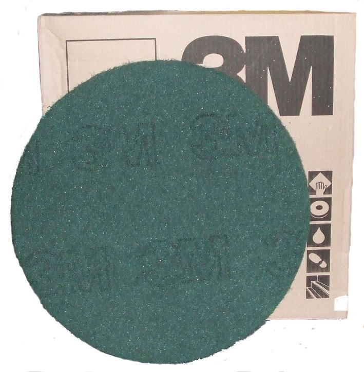 13-inch 3M Premium GREEN Floor Pads x 5