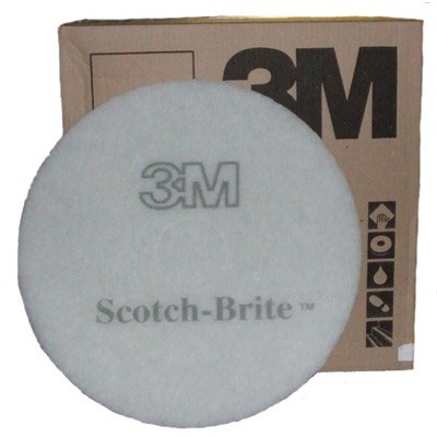 13-inch 3M WHITE Floor Pads x 5