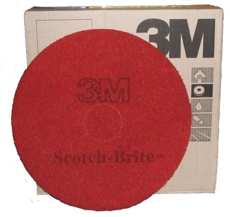 16-inch-3M-Premium-Range-Floor-Pads-RED-x-5