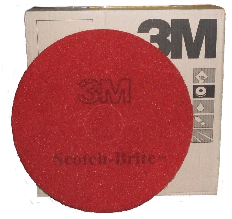 16-inch Scotch-Brite Plus Floor Pads RED SINGLE