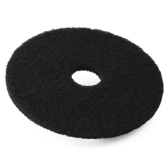 17-inch Contract Black Floor Pads (Box of 5)
