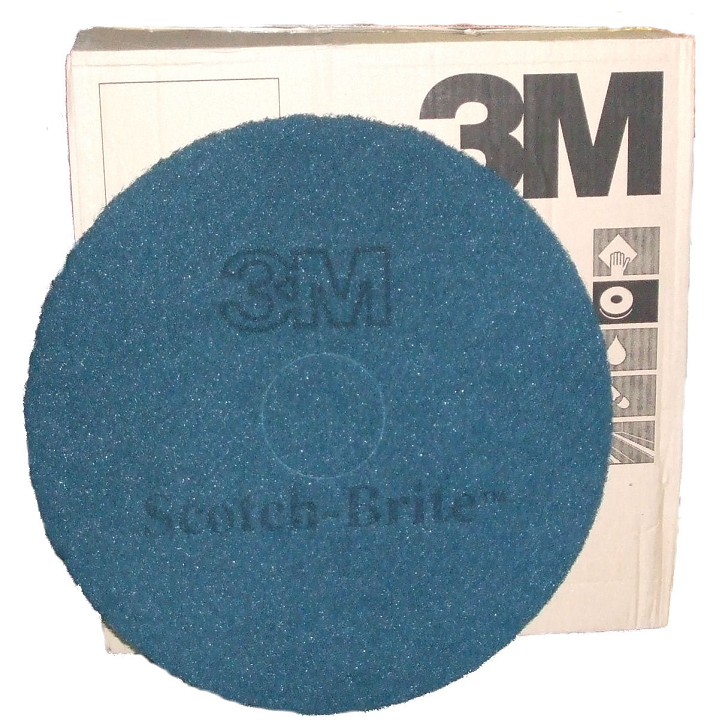 17-inch Scotch-Brite Plus Floor Pads BLUE SINGLE