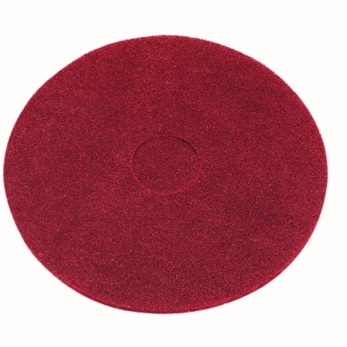 17-inch Contract Red Floor Pads (Box of 5)
