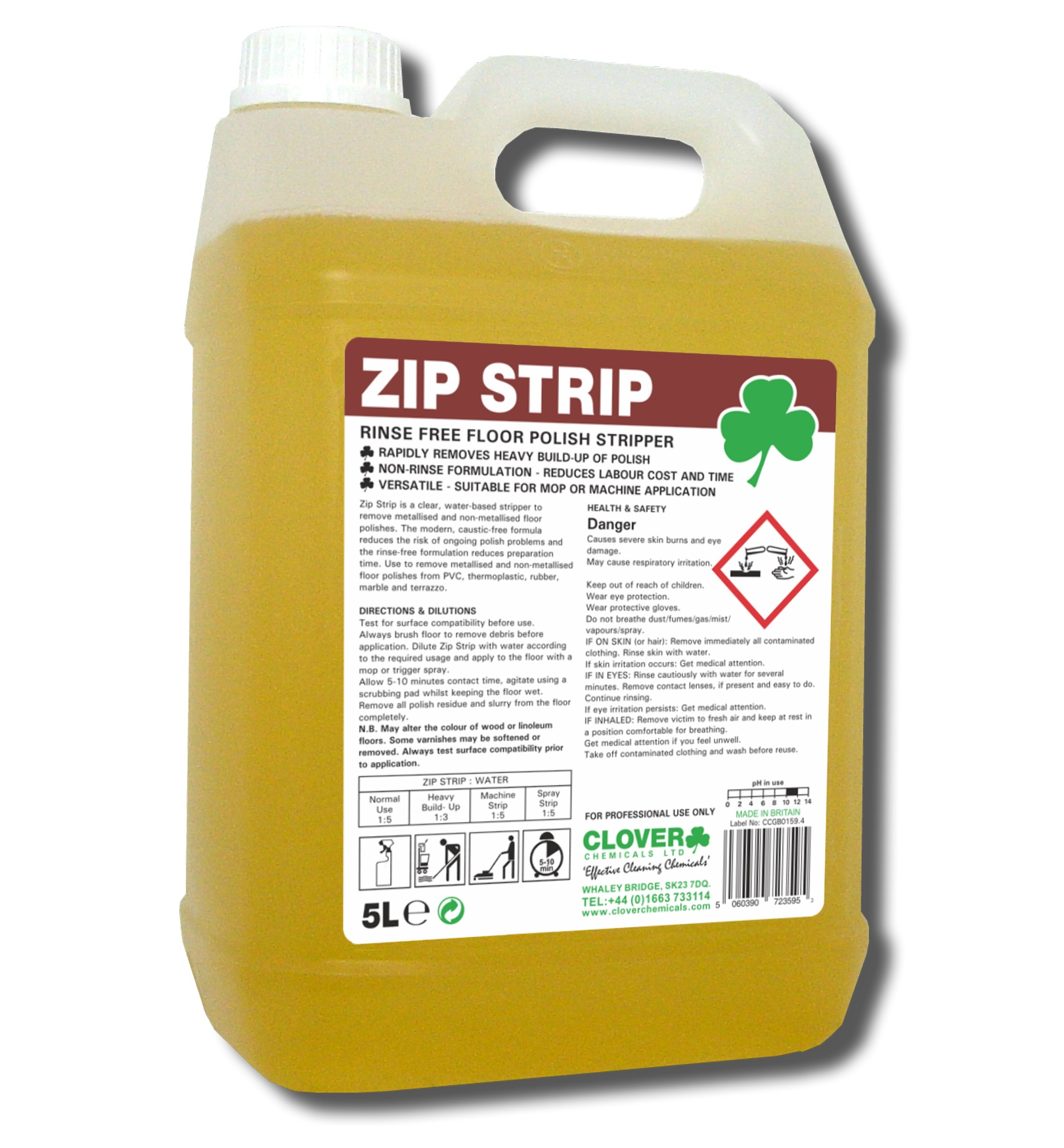 ZIP STRIP - Rinse free floor stripper 5litre