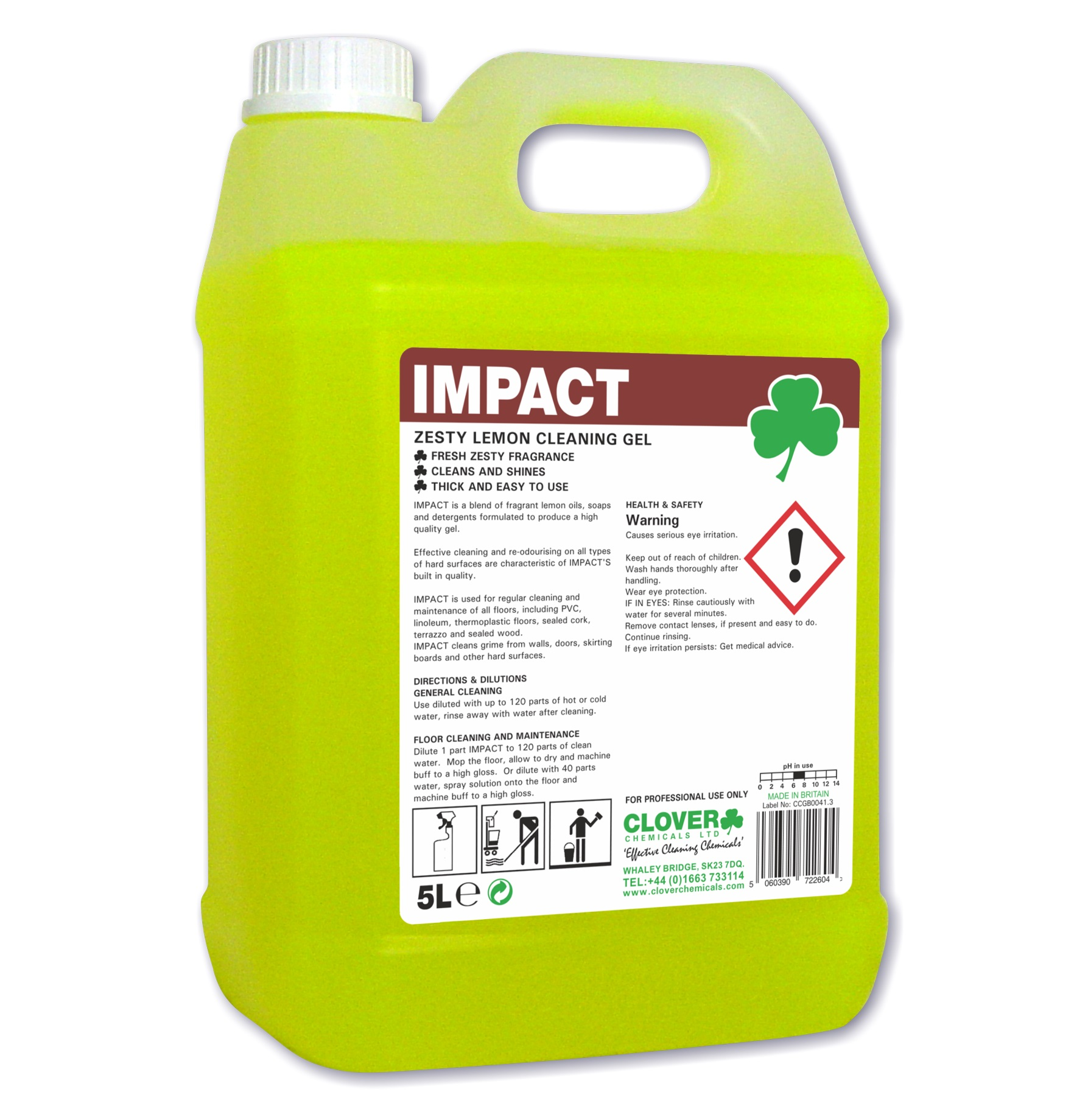 Impact - Zesty Lemon Floor Cleaning Gel 5litre