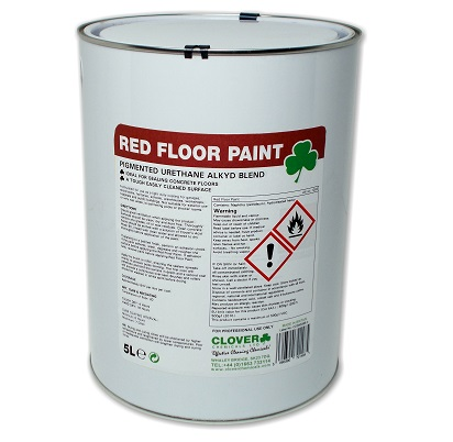 Clover RED floor paint 5litre
