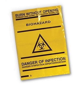 Bio Hazard HD Bags 25cm x 35 cm (Pack of 10)