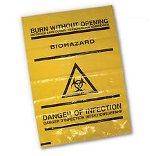 Bio Hazard HD Bags 45cm x 75 cm (Pack of 10)