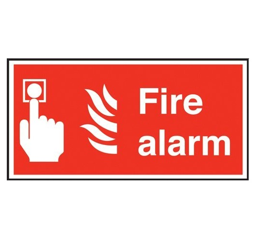 Safety Sign - Fire Alarm (100x200mm - Plastic)
