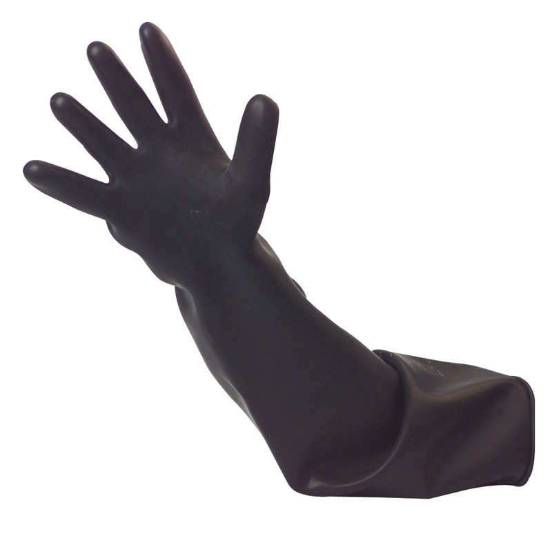 Black-rubber-shoulder-length-gauntlet-60cm--size-10.5-