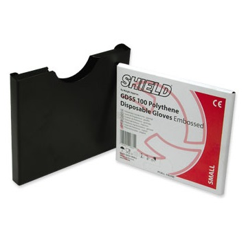 Polythene glove box-holder (black metal)
