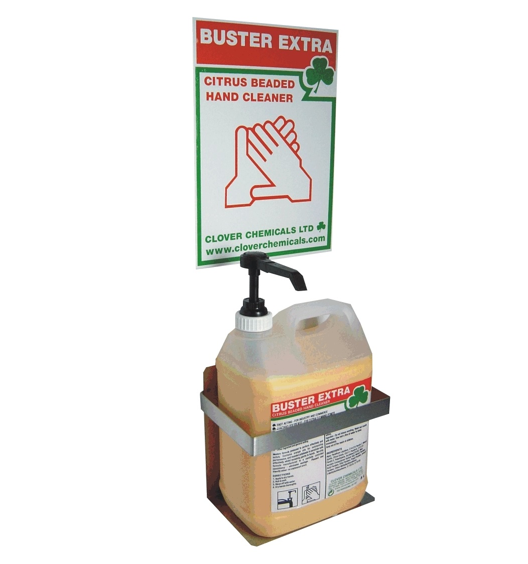 Buster Extra Kit - Stainless Steel Bracket, Backboard & Pump