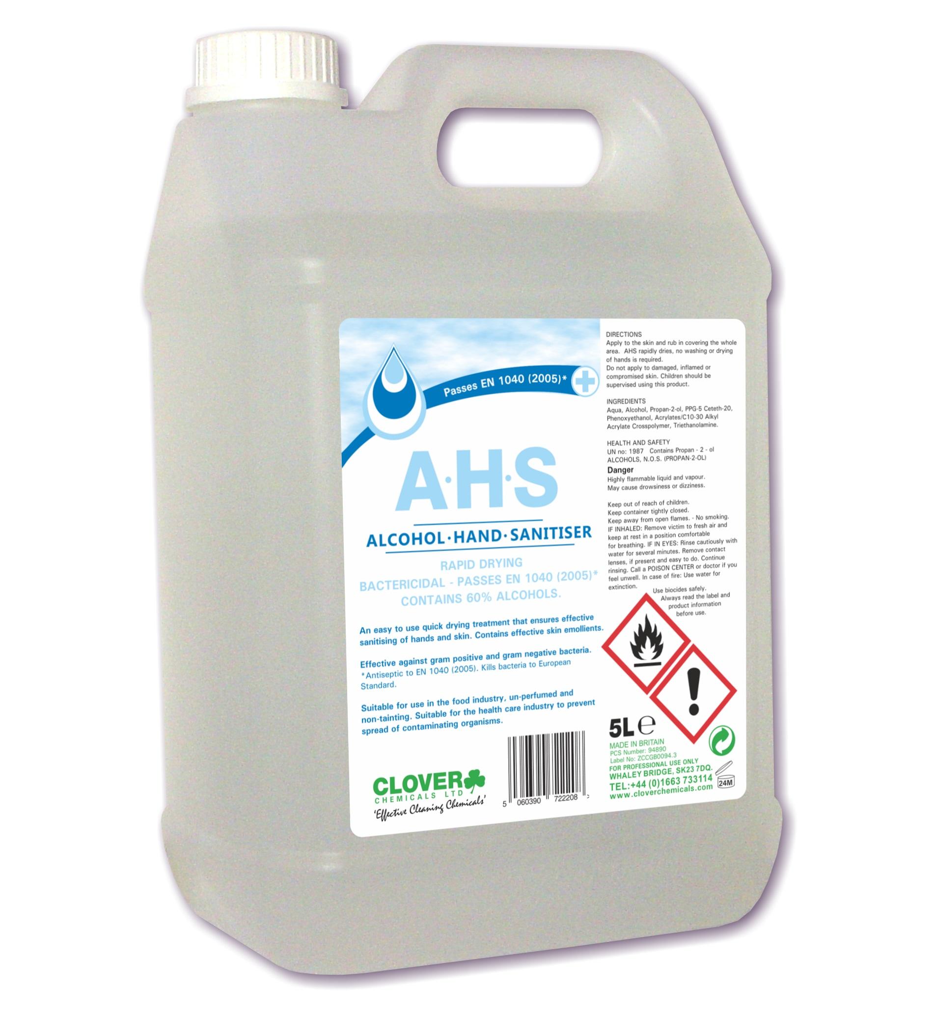 AHS Alcohol Hand Sanitiser 5litre