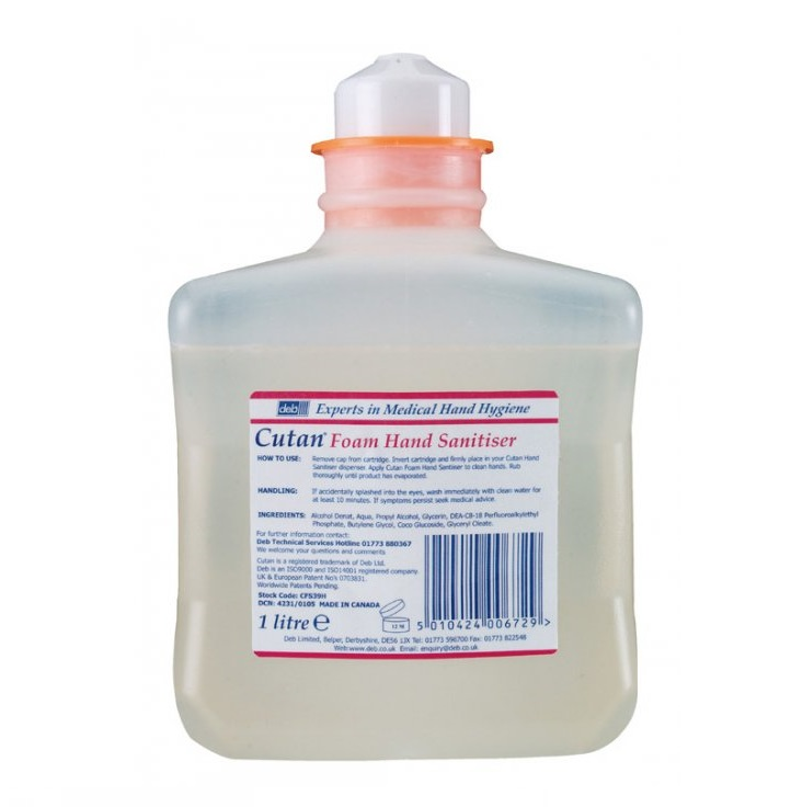 Deb-Cutan-Foam-Hand-Sanitiser---6x1litre-Cartridge