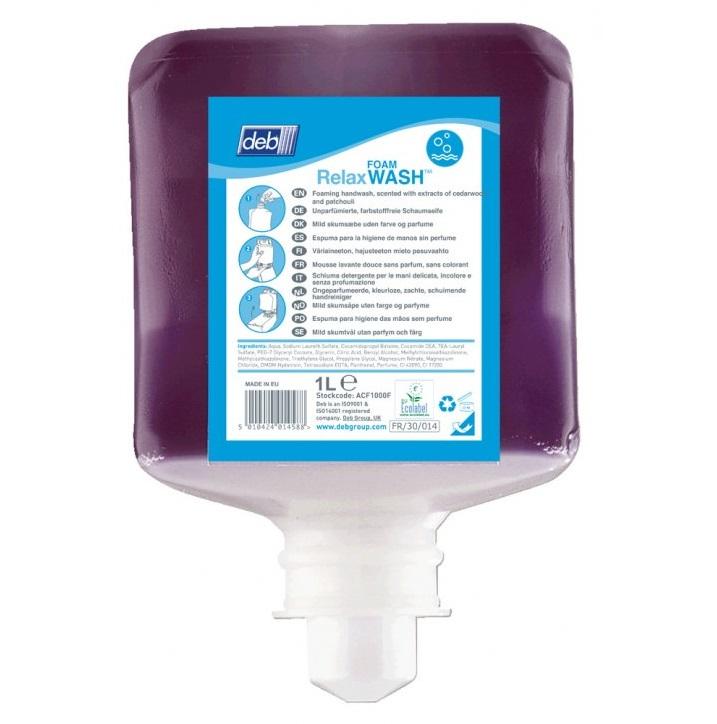 Deb-Relax-Foam-Hand-Wash-6x1L-RLX1L