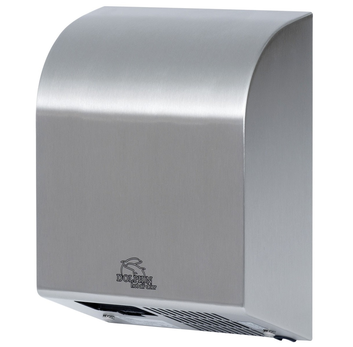 Hot Air Hand Dryer - Stainless Steel H326 x W257 x D120mm