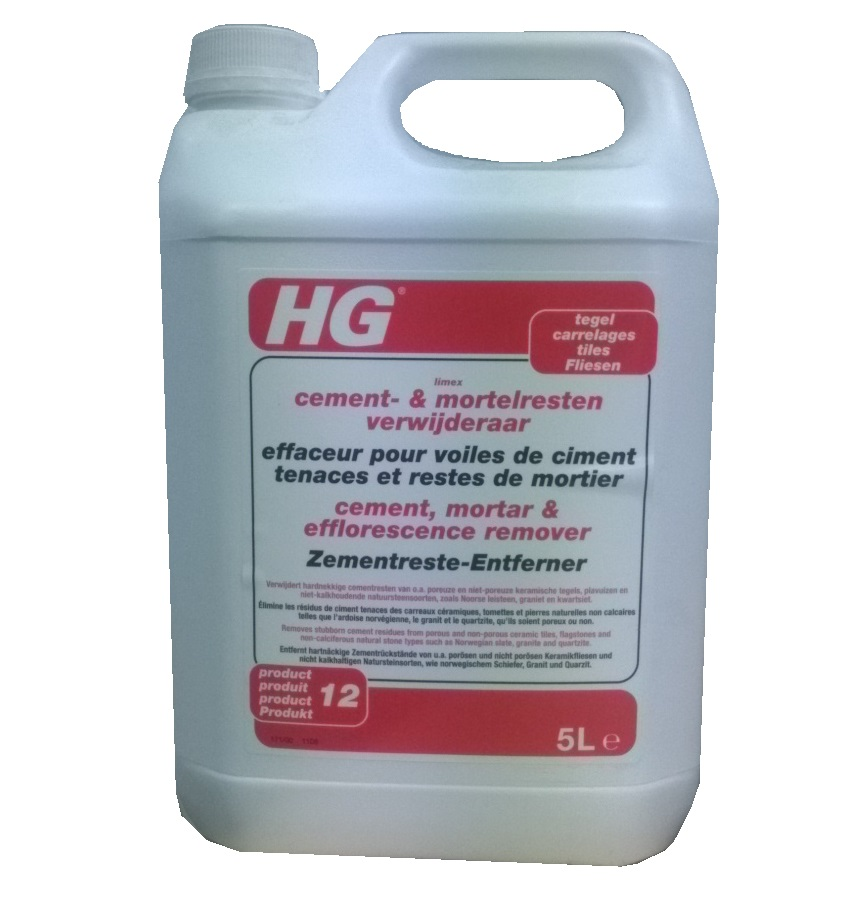 HG Cement, Mortar & Efflorescence Remover (limex) 5 litre (12)