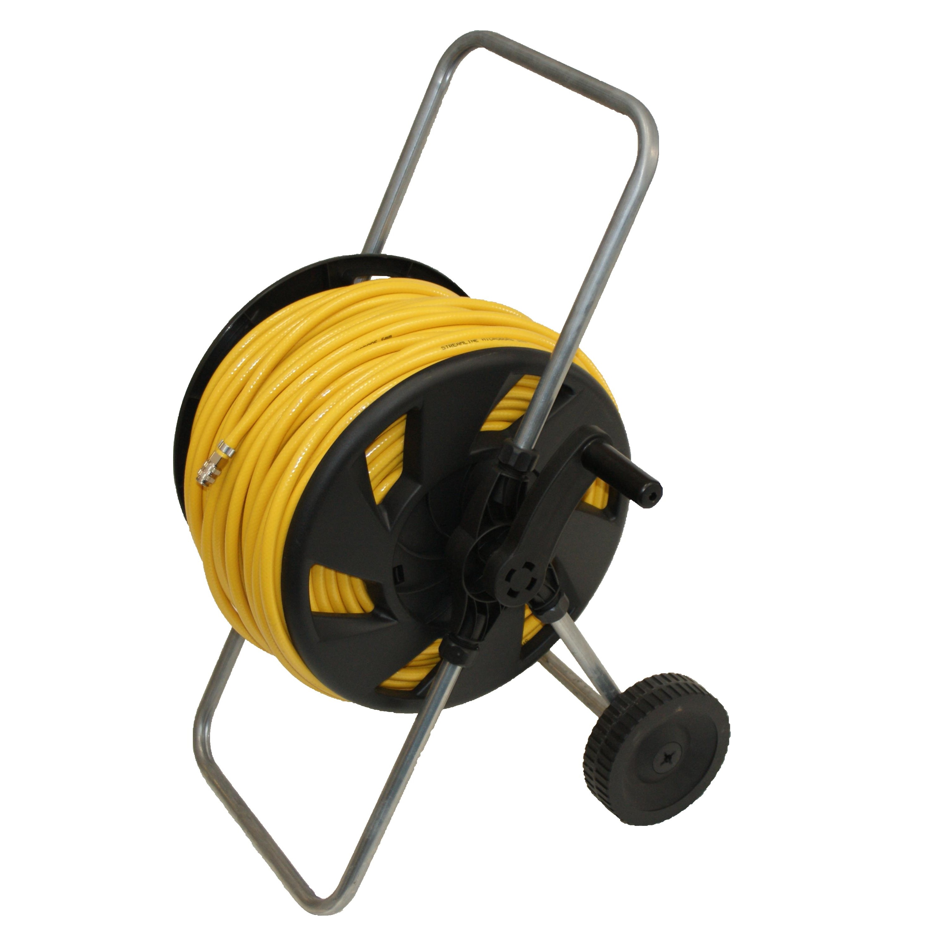 Metal-plastic-wheeled-ECO-hose-reel-with-100mtr-hose