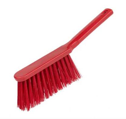 Banister Brush, stiff - RED