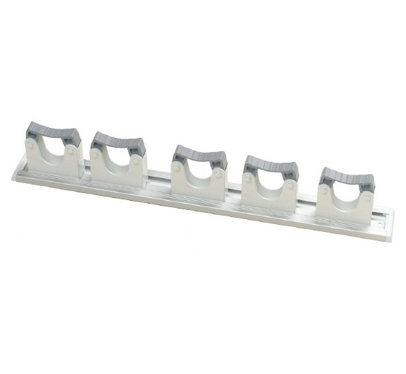 Rubber grip hanger with 5 holders - WHITE