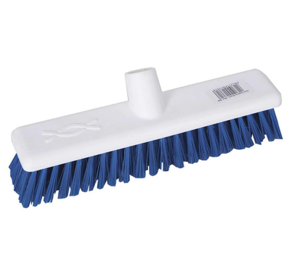 12-inch Blue STIFF Abbey Hygiene Broom Head