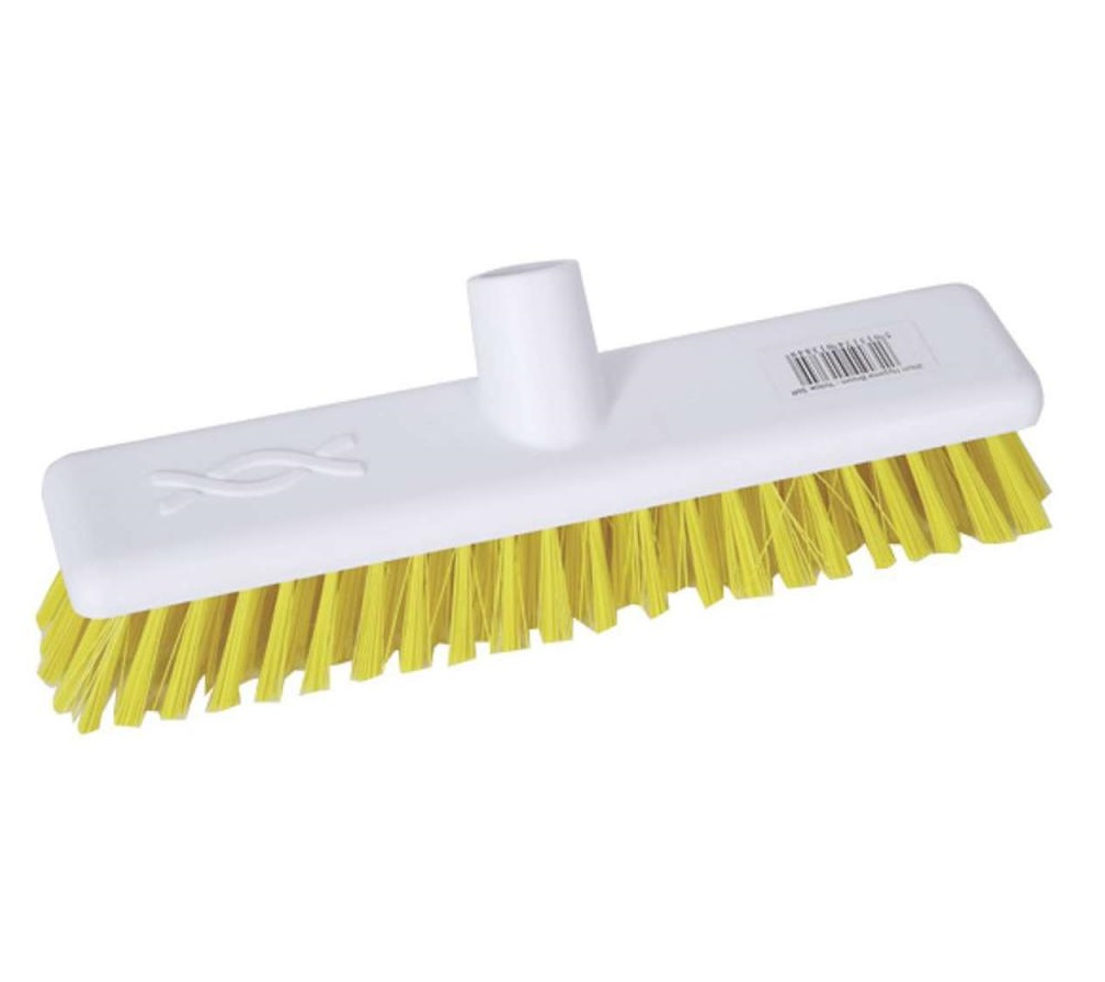 12-inch Yellow STIFF Abbey Hygiene Broom Head