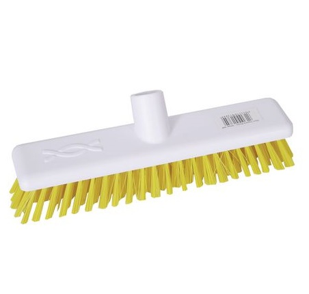 9-inch Yellow DECK SCRUB Abbey Hygiene Broom Head