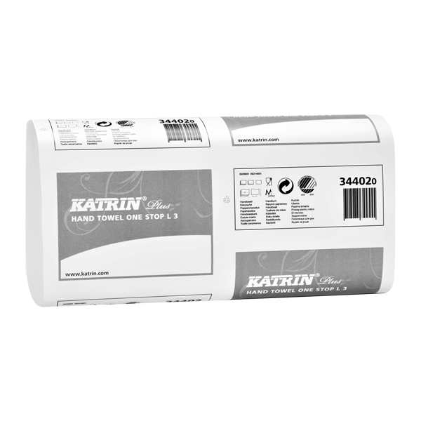 Katrin Plus One Stop L3 - white 3ply (1890/case) 344020