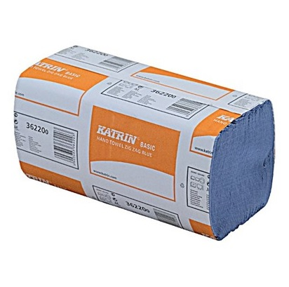 Katrin Basic Zig-Zag Hand Towel - Blue 20x250 1ply (362200)
