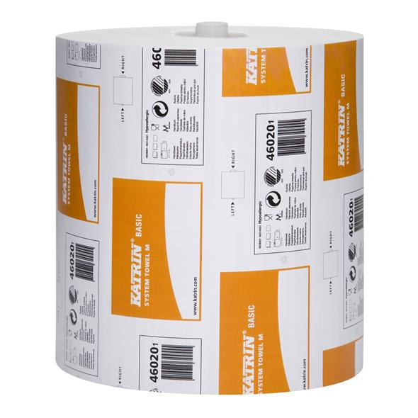 KATRIN BASIC System Towel 180m - Natural White (6 rolls)