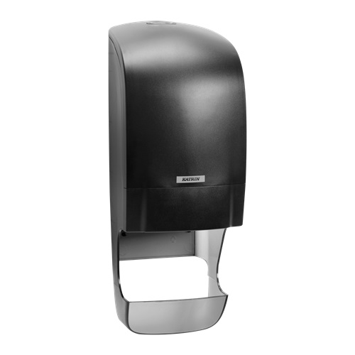 Katrin-Inclusive-Range-System-Toilet-Roll-Dispenser-BLACK-92049