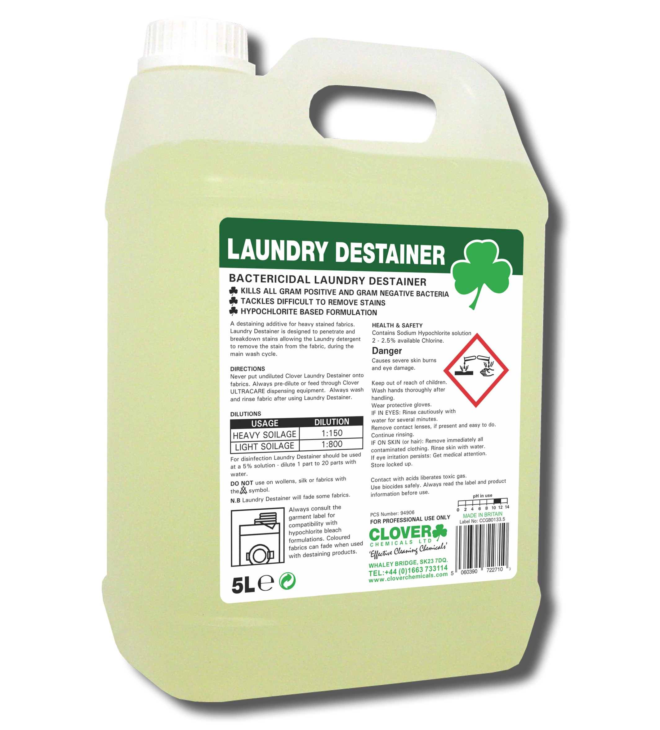 Laundry Destainer 5litre