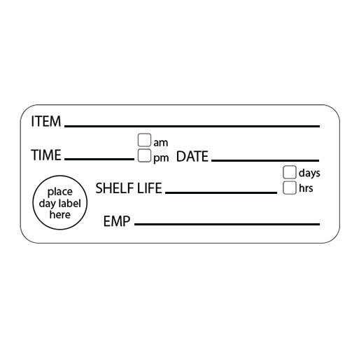 Shelf life removable labels (500 per roll)