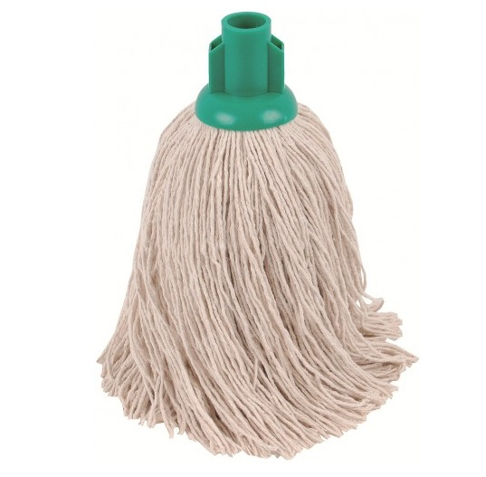TWINE Socket Mop 14oz GREEN  -  PACK OF 10
