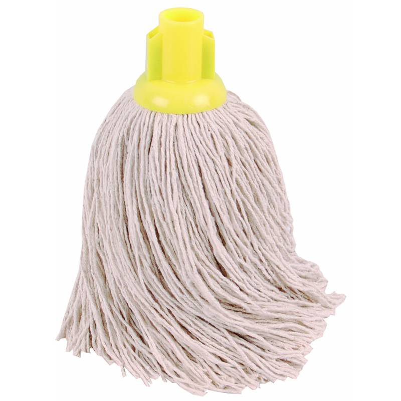 TWINE Socket Mop 14oz YELLOW  -  PACK OF 10