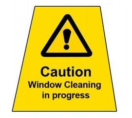 MINI-CONE-LABEL:-Window-Cleaning-in-Progress-