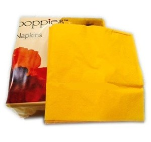 Yellow Napkins 40cm 3ply - 8-fold (10x100)