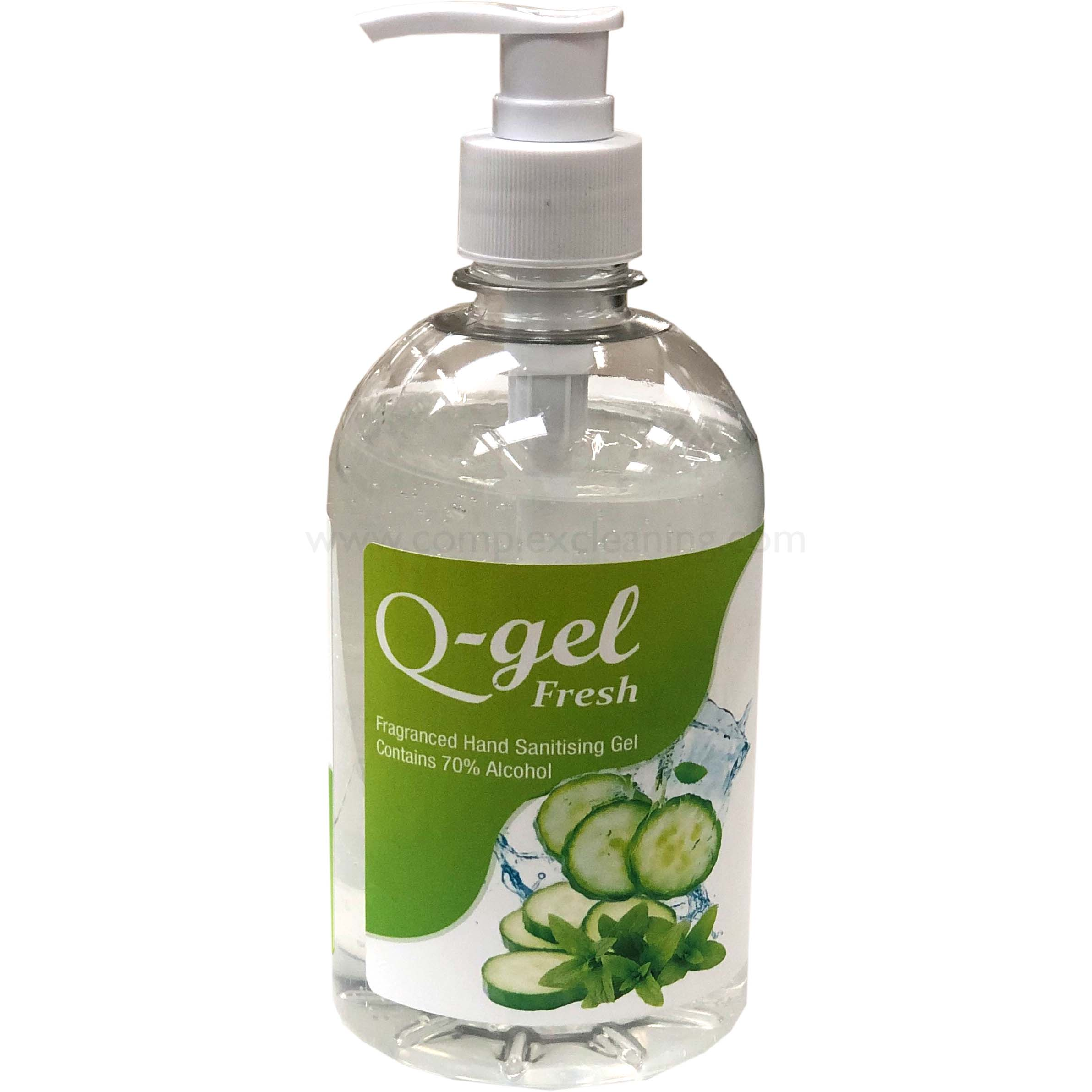 Q-Gel-Fresh-Cucumber---Mint-Hand-Sanitising-Gel-70%25-alcohol-500ml--single-