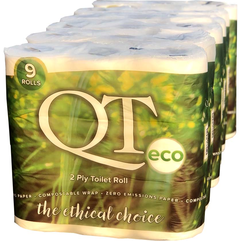 QT-ECO-Enviromentally-Friendly-Luxury-2ply-Toilet-Roll--6x9Rolls--with-compostable-wrap