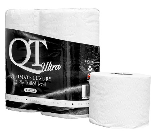 QT ULTRA Ultimate Luxury Pure 3ply Toilet Rolls (10x4 Rolls)