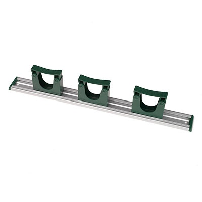 500mm-aluminium-rail-with-3-green-HD-hooks
