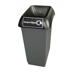 50LTR-RECYCLING-BIN-COMPLETE-WITH-BLACK-LID-AND-GENERAL-WASTE-LOGO