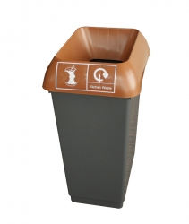 50LTR-RECYCLING-BIN-COMPLETE-WITH-BROWN-LID-AND-KITCHEN-WASTE-LOGO