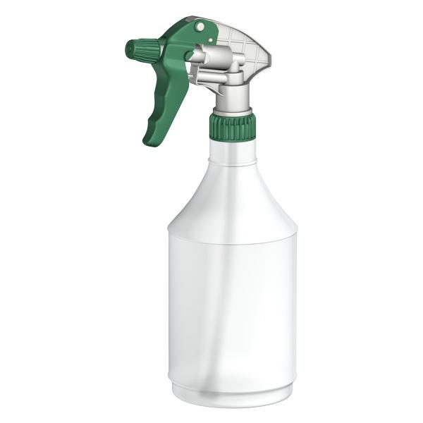 Ergospray-Trigger-Head-GREEN---750ml-clear-bottle