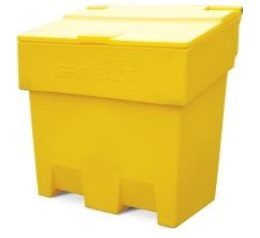 200-litre Lockable Grit Salt Bin YELLOW 710x720x750mm