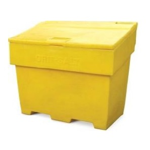 400-litre Lockable Grit Salt Bin YELLOW 710x1260x750mm