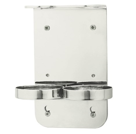 SFS Chrome Double Holder 300ml - Mounted