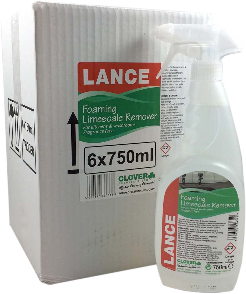 Lance Concentrated Foaming Limescale Remover Spray 6x750ml
